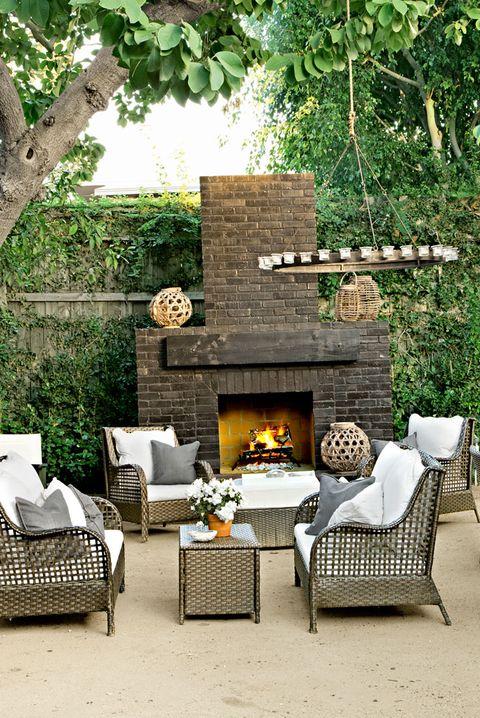 Full Fireplace Wall