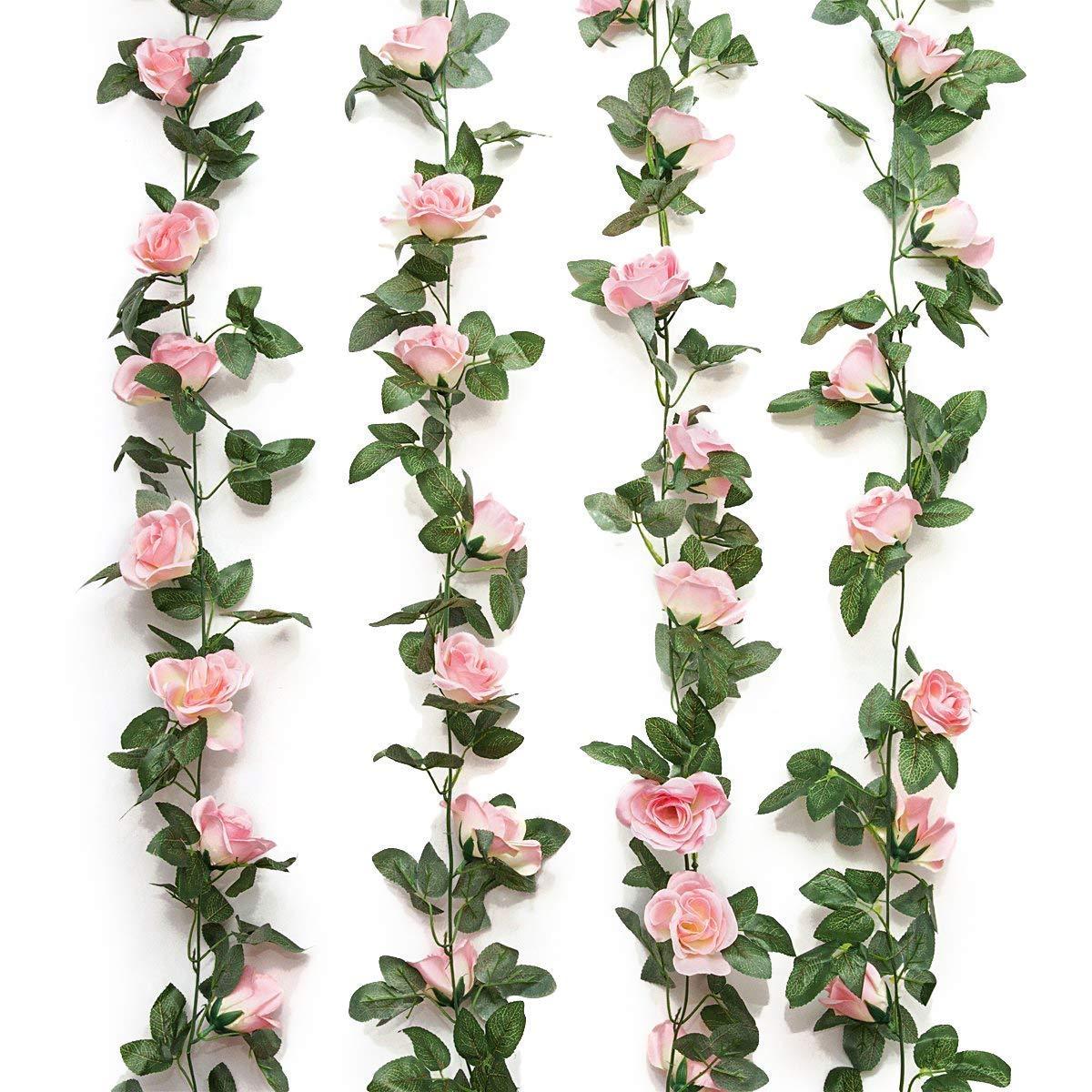 Silk Rose Garland Vine Plant Flower