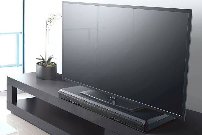 TV with soundbar